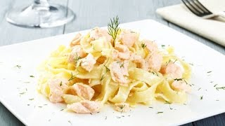 Паста с морепродуктами в сливочном соусе