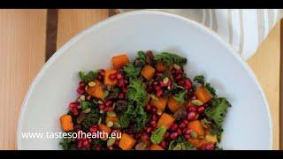 Kale Salad Best - Best Kale Salad - Kale Salad Recipe - Raw Kale Salad - Kale Salad With Pumpkin