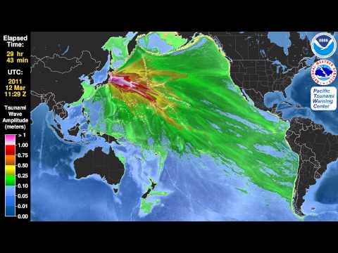 Tsunami Animation:  Tohoku, Japan 2011 (Mercator)