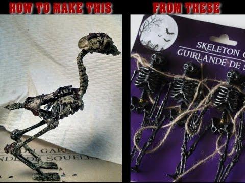 How to make a bird skeleton
