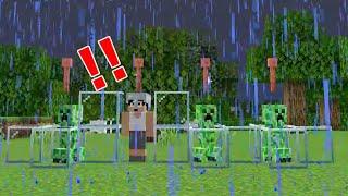 検証!クリーパーが避雷針に当たると・・・【Minecraft】#shorts