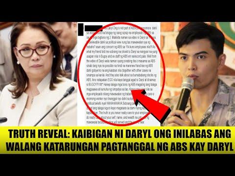 EXCLUSIVE: Kaibigan ni DARYL Ong ISINIWALAT ang WALANG AWA na PAGTANGGAL ng Boss ng ABS kay DARYL!!