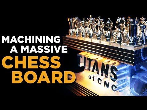 Machining A Massive Chess Board | TITANS of CNC