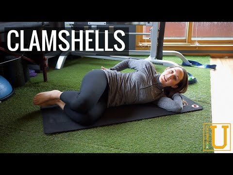 How To Do The Clamshell Exercise Kinetic Sports Rehab