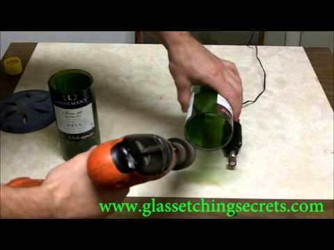 Quickly Amp Easily Finish A Cut Glass Bottle By Sanding