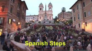 Rome walking tour -- travel video