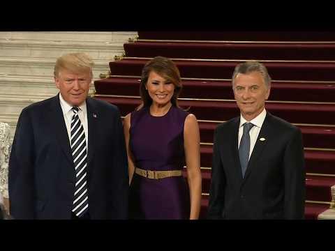 GLOBAL ENTRANCE: President Trump and Melania Trump Enter G20 Dinner Gala