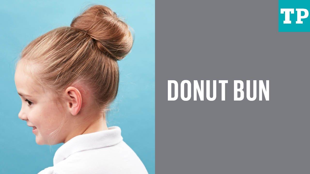 Image result for kids hair bun