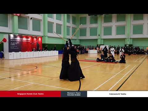 3member Ladies Team Round Robin - Singapore Kendo Club vs Indonesia B - Taisho
