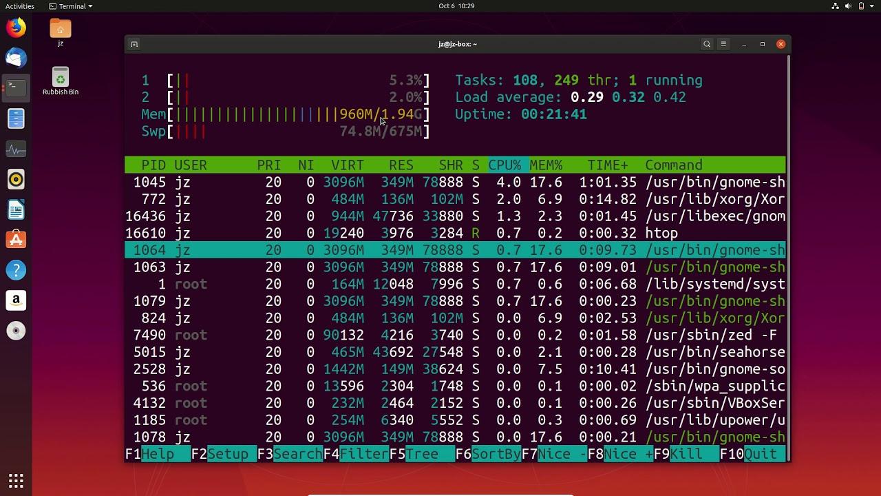 Strait tange pločnik razumijevanje  Ubuntu 19.10 Ram Usage - Out of the Box - YouTube