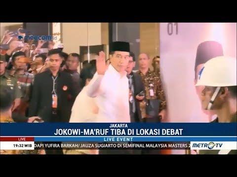 Jokowi-Ma'ruf Tiba di Lokasi Debat