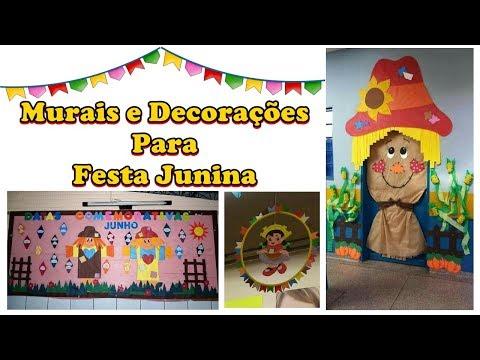 Festa De Sao Joao Decoracao Junina Painel Escolar Youtube