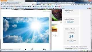 видео Наполнение сайта. Материалы и пункты меню joomla 2.5