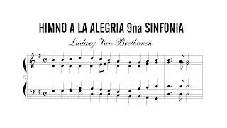 Partitura: Ludwig Van Beethoven - Himno a la Alegria 9na Sinfonia | Produccion de Partituras