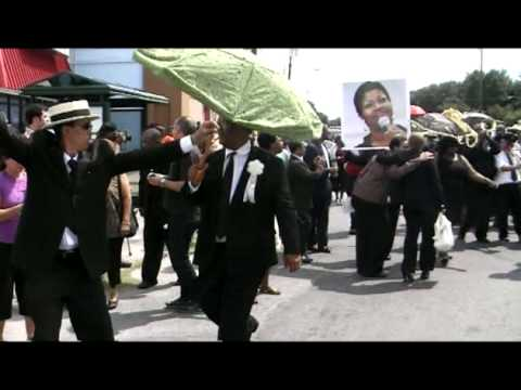 You better second line! Jazz funeral in New Orleans for Juanita Brooks