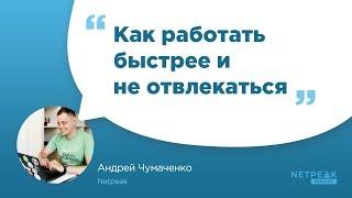 Netpeak Insight #4: «Как работать быстрее и не отвлекаться», Андрей Чумаченко