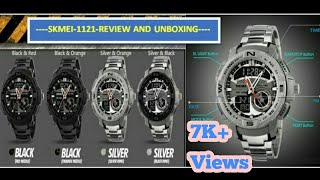 skmei 1121 watch unboxing and review