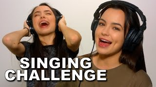 SINGING while wearing NOISE CANCELLING HEADPHONES! - Merrell Twins thumbnail