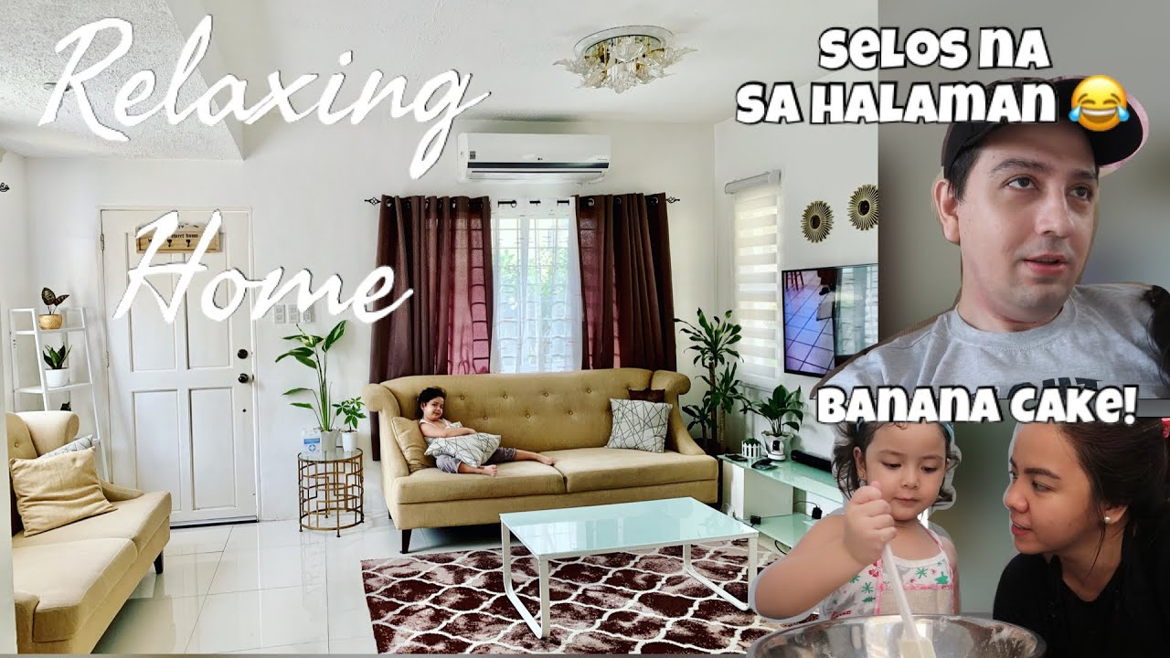 OUR RELAXING HOME WITH INDOOR PLANTS + RAPHIE'S BANANA CAKE