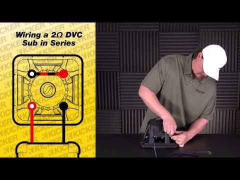 Subwoofer Wiring: One 2 ohm Dual Voice Coil Sub in Series ... on kicker cvr wiring diagram, kicker comp wiring diagram, kicker l5 wiring diagram, kicker l3 wiring diagram, kicker amp wiring diagram, kicker l7 wiring diagram,