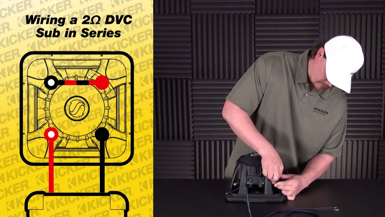 subwoofer wiring one 2 ohm dual voice coil sub in series youtube on kicker wiring diagram dvc