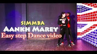 Aankh Marey-Simmba  Dance Video | Choreography | Scientist abhi ft. aarti