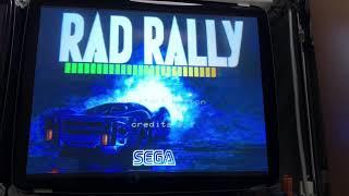 [アーケード基板]ラッドラリー RAD RALLY (SEGA SYSTEM32) デモ画面及び自作コントローラの動作確認