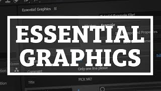 Make Templates with Essential Graphics in Adobe After Effects