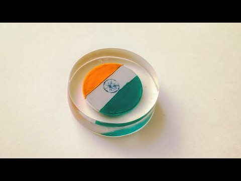 DIY Turn Coin Into Indian Flag Craft In Epoxy Resin | Indian Flag | Flag In Resin | India