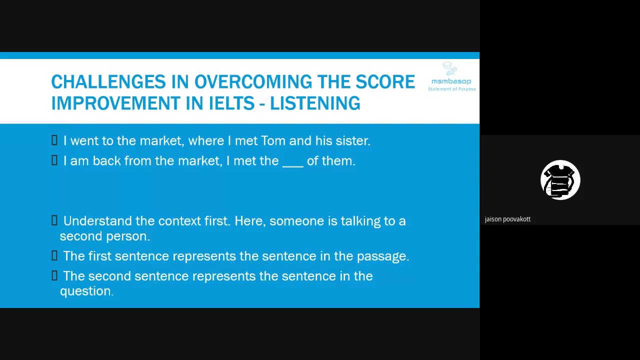 Webinar Recording IELTS Score Improvement Challenges for 2020