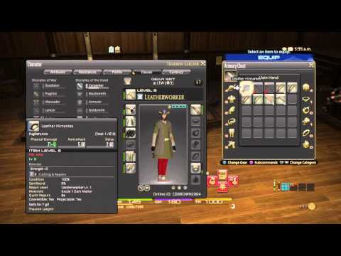 FINAL FANTASY XIV Repairing Gear