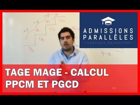 TAGE MAGE - CALCUL - PPCM et PGCD