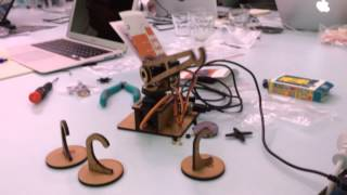 Finished Arduino robot from Maker Weekend workshop