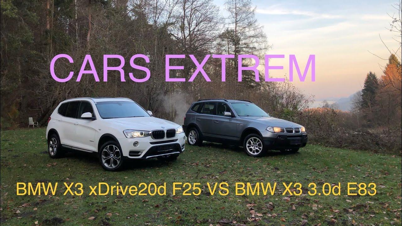 Comparison Walkaround 2017 Bmw X3 Xdrive20d F25 Facelift Vs 2004 Bmw X3 3 0d E83