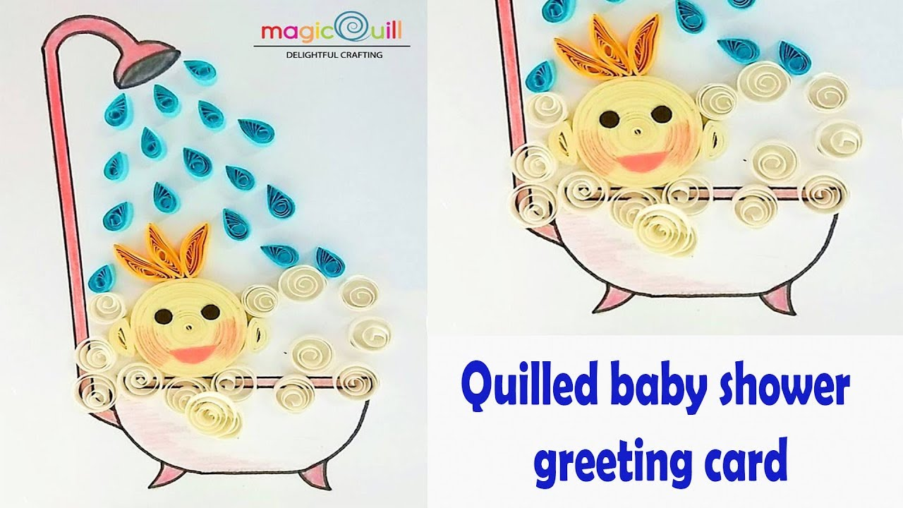 How to make handmade baby shower greeting card magic quill youtube how to make handmade baby shower greeting card magic quill m4hsunfo