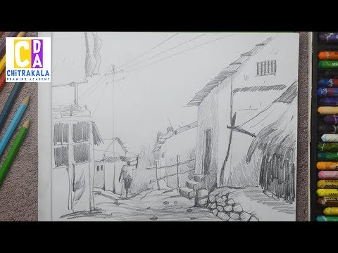 how-to-draw-and-shade-a-scenery-drawing-with-pencil-|-easy-pencil-art