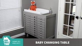 The baby changing table is definitely one of our essential projects when is comes to prepping the nursery for the arrival of our baby