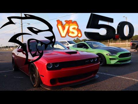 HELLCAT's REVENGE   2018 MUSTANG GT VS 830WHP STICK SHIFT HELLCAT!