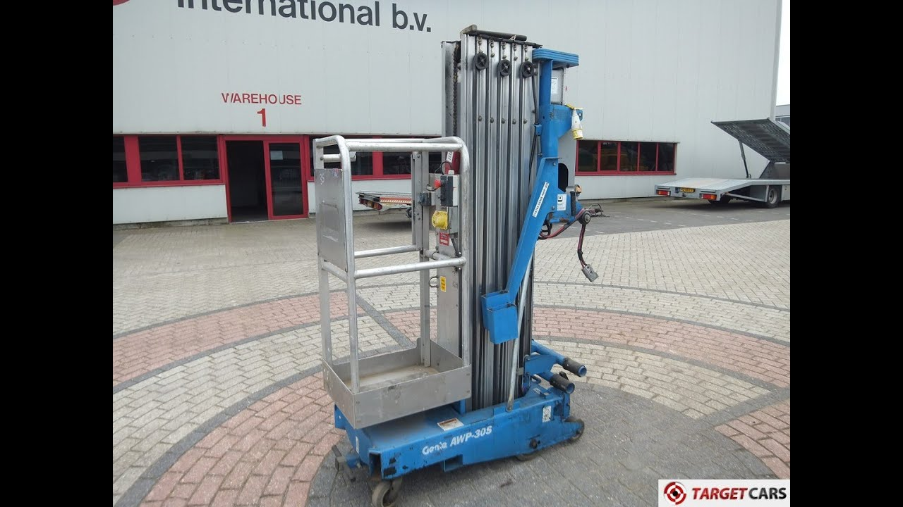 small resolution of 774745 genie awp 30s vertical mast aerial work lift platform 1100cm 5 2004 defect incomplete