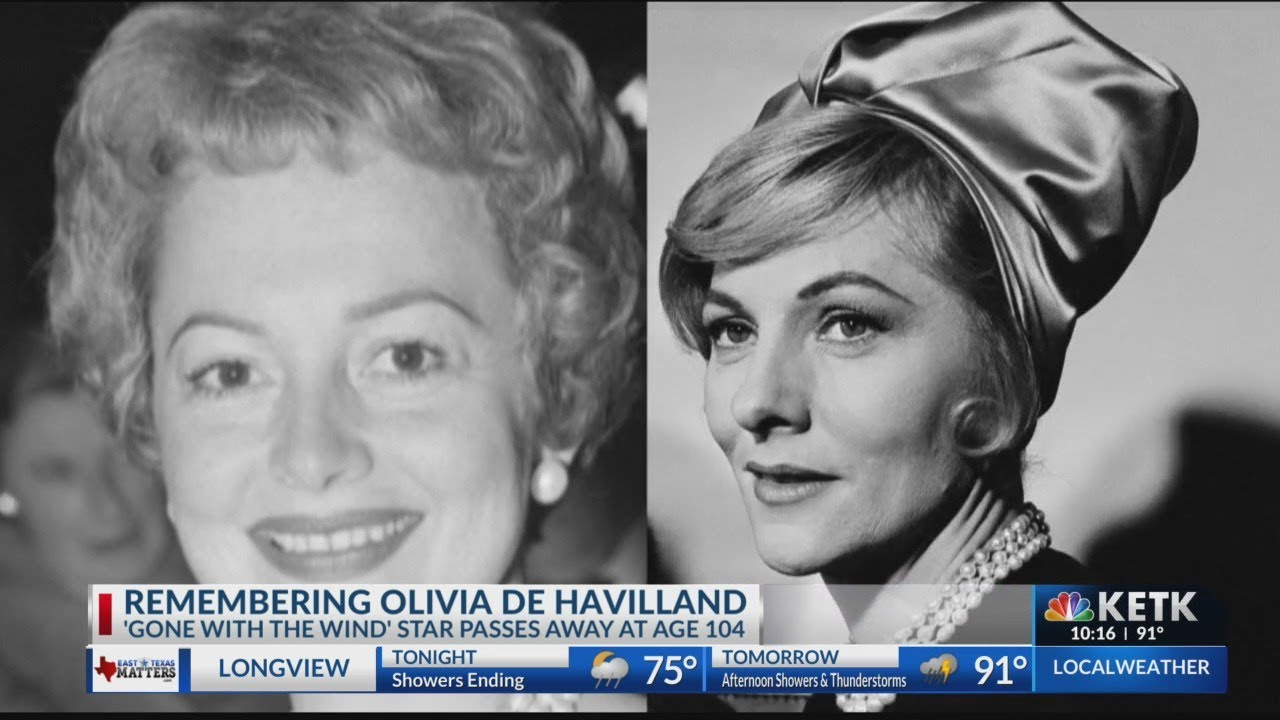 Olivia de Havilland, star of 'Gone With the Wind,' dies at 104 ...