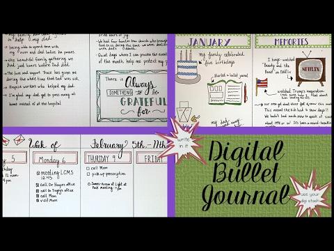 My Digital Bullet Journal & Demo