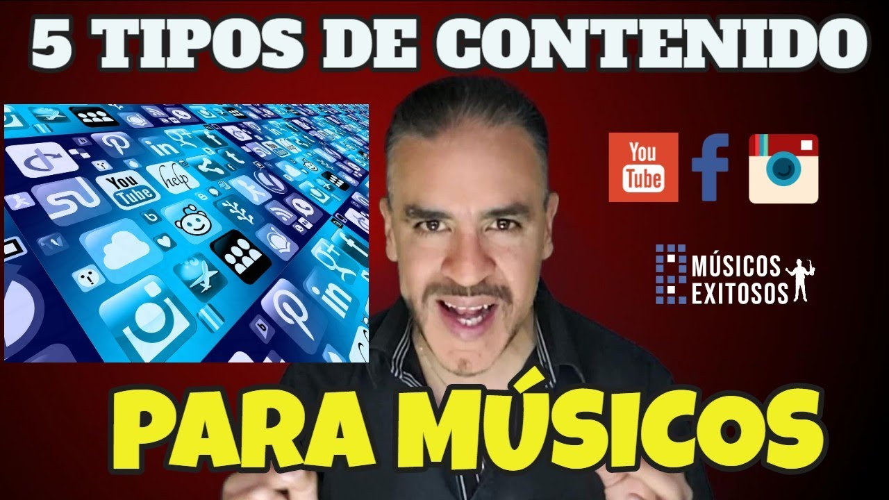 Tipos de contenido para Músicos