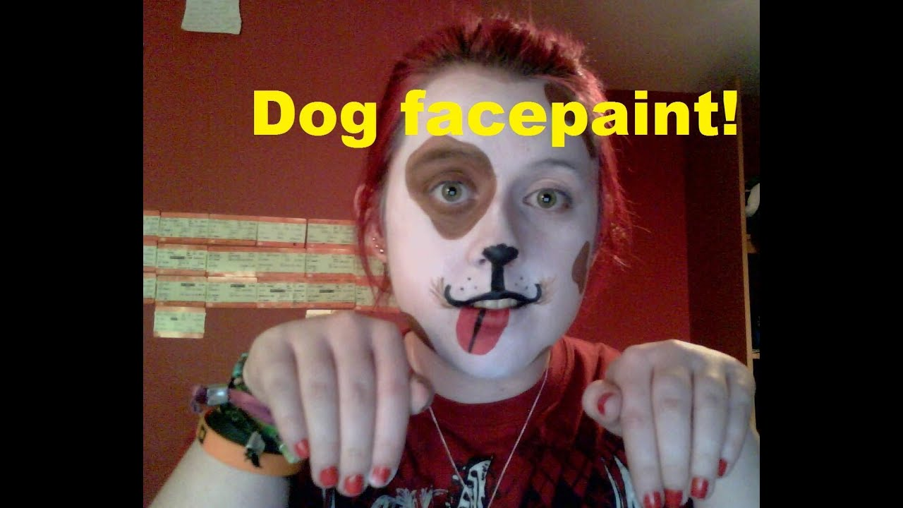 Face Paint For Puppy Costume