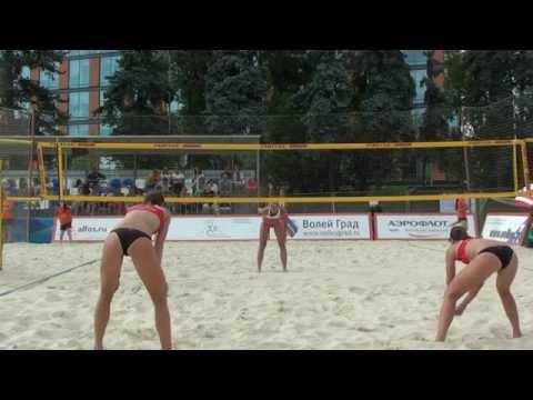 Beach Volleyball Russia championship 2014 Moscow Myshonkova - Shvedova and Abalakina - Motrich