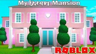 My $400000 DREAM MANSION In Bloxburg! Bloxburg Mansion Buildoff Tod...