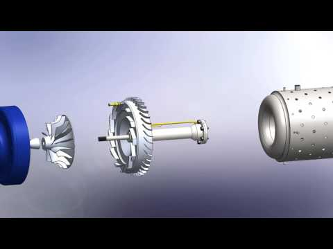 Phoenix 30.3 Radial Jet Engine in SolidWorks