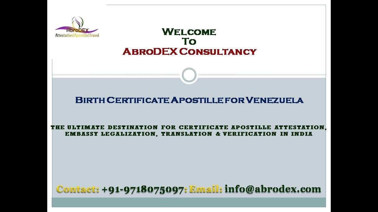 Birth certificate apostille for venezuela youtube birth certificate apostille for venezuela aiddatafo Images