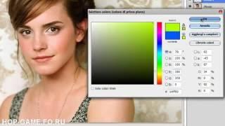 Обучение PS CS5 (русский). Фотошоп [Emma Watson] | tutorial