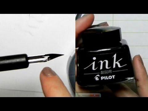 Ink Tutorial: G-Pens, Maru Pens, Pilot Ink, Kaimei Ink, Deleter Ink