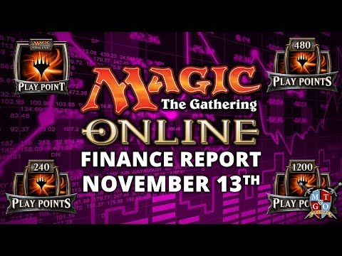 MTGO Finance Report November 13th | Play Points, Tickets, and Treasure Chest Changes